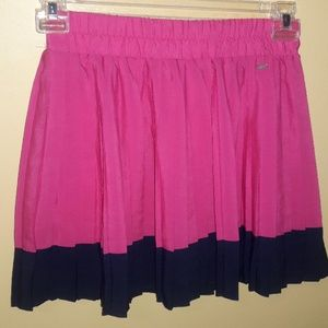 🌻Aeropostale pink & blue pleated skirt sz M. Hey